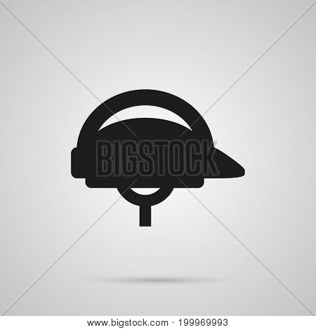 Vector Hardhat Element In Trendy Style.  Isolated Helmet Icon Symbol On Clean Background.
