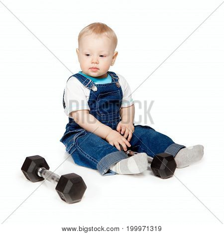The Little Boy With Dumbbells.
