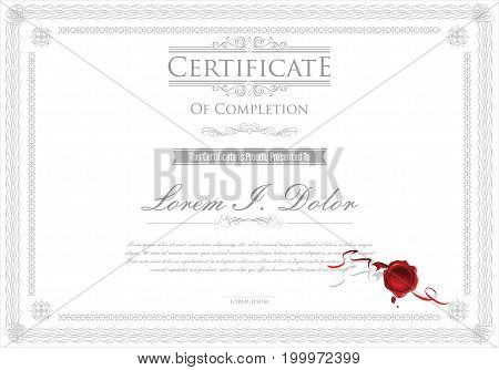 Certificate Or Diploma Retro Design Template Vector Illustration 2.eps
