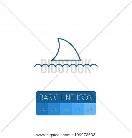 Fish Vector Element Can Be Used For Shark, Aquatic, Fish Design Concept.  Isolated Shark Outline.
