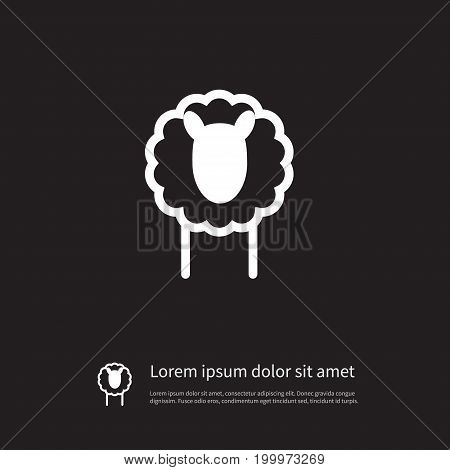 Livestock Vector Element Can Be Used For Livestock, Lamb, Sheep Design Concept.  Isolated Lamb Icon.