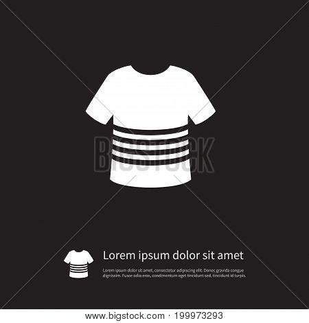 Casual Vector Element Can Be Used For T-Shirt, Apparel, Casual Design Concept.  Isolated T-Shirt Icon.