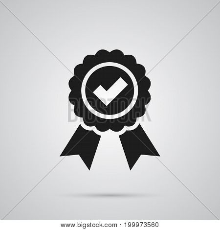 Vector Guarantee Element In Trendy Style.  Isolated Quality Icon Symbol On Clean Background.