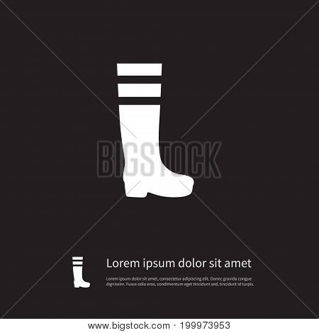Gumboots Vector Element Can Be Used For Rubber, Footwear, Gumboots Design Concept.  Isolated Footwear Icon.
