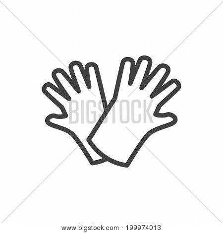 Vector Safer Of Hand  Element In Trendy Style.  Isolated Gloves Outline Symbol On Clean Background.