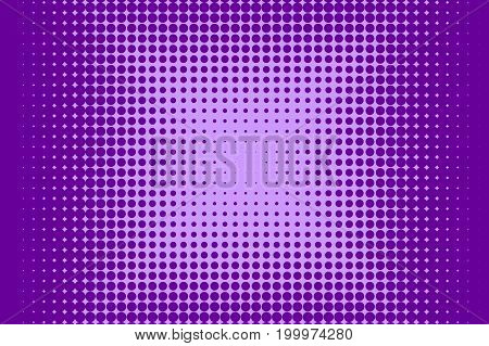 Halftone pattern. Comic background. Dotted retro backdrop with circles, dots. Design element for web banners, posters, cards, wallpapers, sites. Pop art style. Vector illustration. Purple