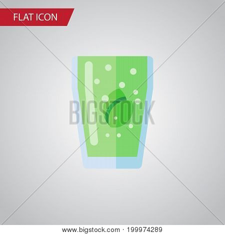 Cup Vector Element Can Be Used For Drink, Beverage, Cup Design Concept.  Isolated Fizzy Drink Flat Icon.