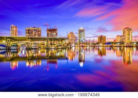 St. Petersburg, Florida, USA downtown city skyline.