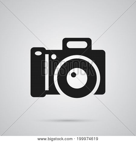 Isolated Photo Camera Icon Symbol On Clean Background