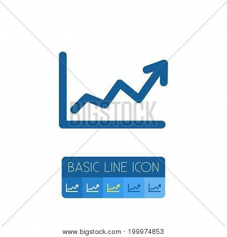 Direction Vector Element Can Be Used For Growing, Direction, Arrow Design Concept.  Isolated Growing Outline.
