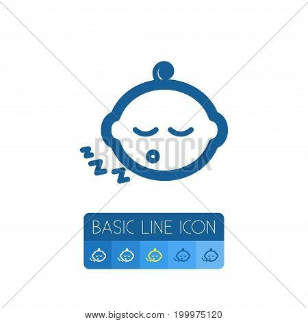 Kid Vector Element Can Be Used For Kid, Newborn, Baby Design Concept.  Isolated Newborn Baby Outline.
