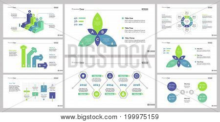 Infographic design set can be used for workflow layout, diagram, annual report, presentation, web design. Business and management concept with process, bar, flow and percentage charts.