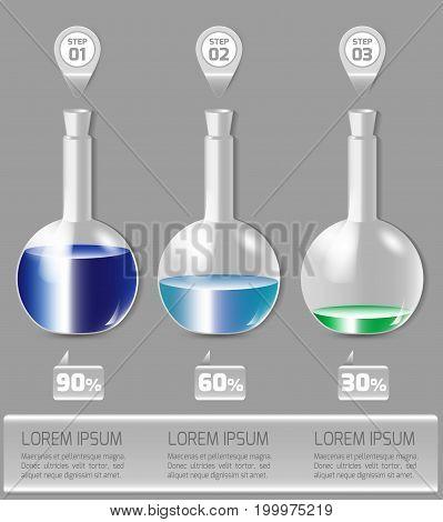 Vector illustration infographics set. Template for brochure, education, business, web design.