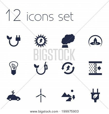 Collection Of Energy, Friendly, Fan And Other Elements.  Set Of 12 Atmosphere Icons Set.