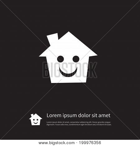 Mortgage Vector Element Can Be Used For Mortgage, House, Smile Design Concept.  Isolated Smile Icon.