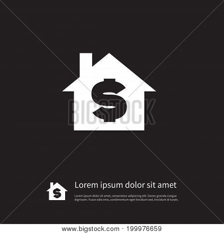 House Vector Element Can Be Used For Sell, House, Dollar Design Concept.  Isolated Sell Icon.