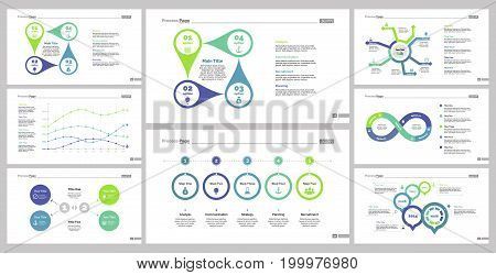 Infographic design set can be used for workflow layout, diagram, annual report, presentation, web design. Business and finance concept with process, line, and flow charts.