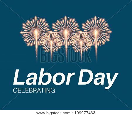 Labor day card design, stock vector illustration.