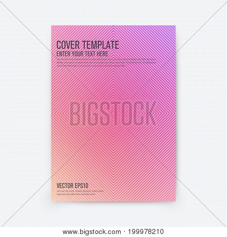 Minimal covers design. Geometric halftone gradients. Stock vector
