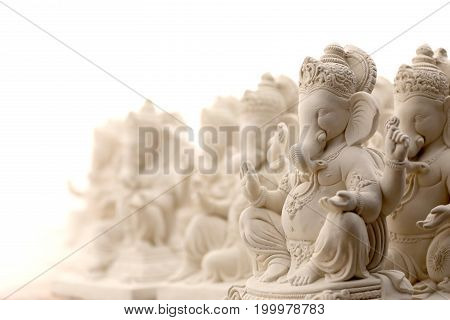lord ganesha statue in plaster of Paris