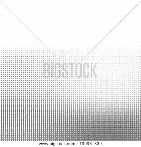 Circle  black and white halftone dots texture background for abstract pattern and graphic design.