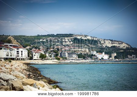 View of Balchik seafront in northern Bulgaria