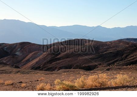 Beautiful sunset in Artist's Drive, Death Valley