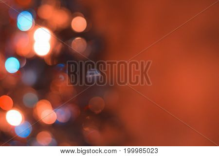 Red blue bokeh christmas background. Color texture.