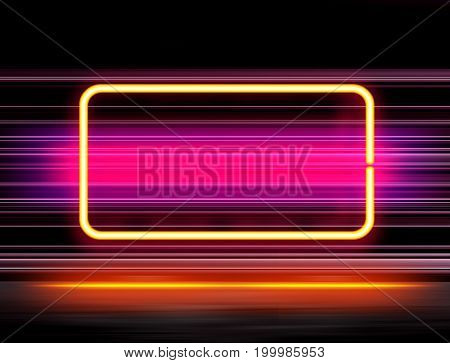 highly technological design with neon elements