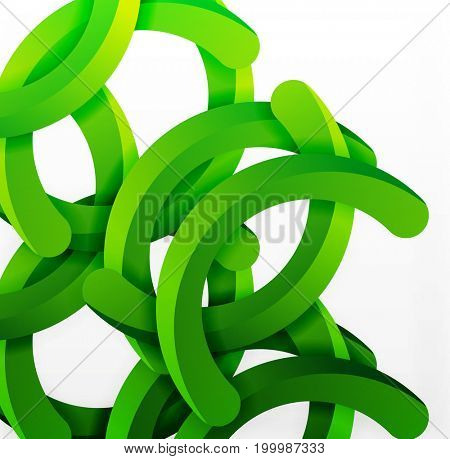Modern 3d geometrical style background, arch circular lines. template