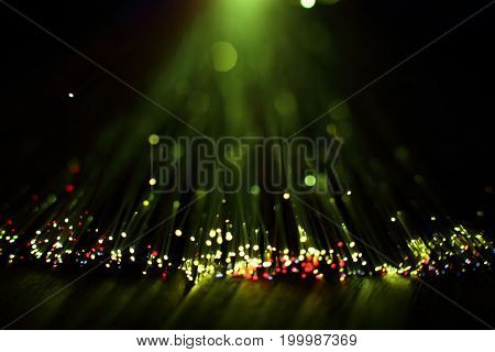 Fiber Optics Lights Abstract Background