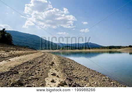 Photo of clear perucko lake in Croatia
