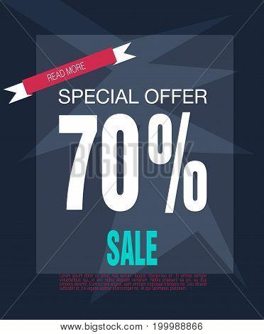 Super Sale shining banner on colorful background. Sale background. Big sale. Sale tag. Sale poster. Geometric design.Half price sale