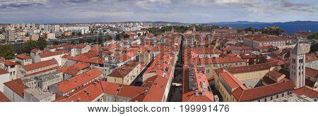 Old Croatian Town Zadar Harbor Panorama