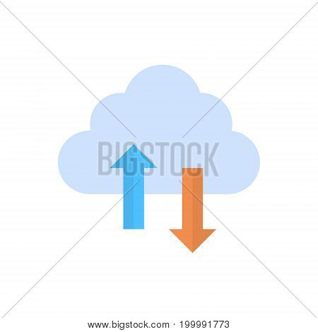 Cloud Data Synchronization Icon Computer Connection Database Access Synchronize Technology Vector Illustration