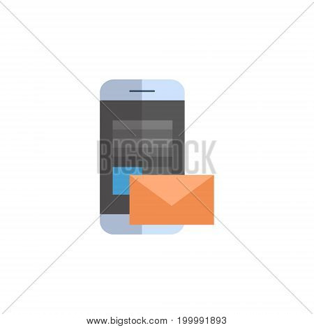 Cell Smart Phone With Envelope Icon Email Letter Messanger Concept