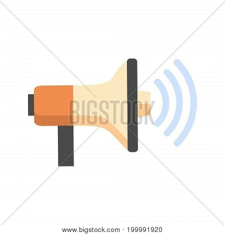 Megaphone Icon Loudspeaker Sound Concept Flat Vector Illustration