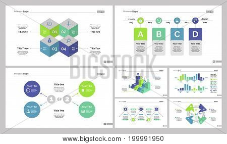 Infographic design set can be used for workflow layout, diagram, annual report, presentation, web design. Business and marketing concept with process, bar and percentage charts.