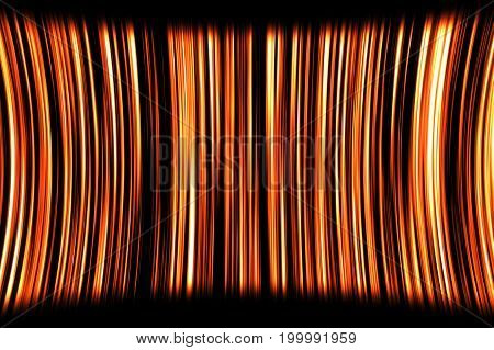 Abstract Motion Background With Orange Stripes