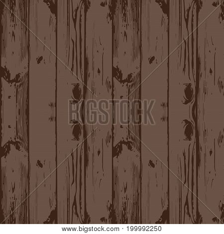 Seamless wooden texture. Wooden boards top view. Shabby old wooden background. Vector illustration. / Two textures /