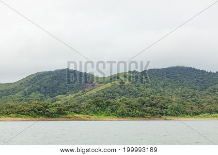 Hills and forest at lake arenal Costa Rica