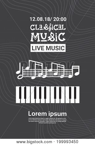 Jazz Festival Live Music Concert Poster Advertisement Retro Banner Vector Illustration