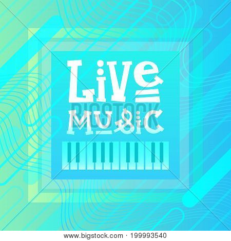 Live Music Concert Poster Festival Banner Vector Illustration