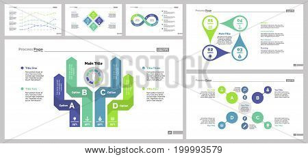 Infographic design set can be used for workflow layout, diagram, annual report, presentation, web design. Business and analysis concept with process, line and percentage charts.