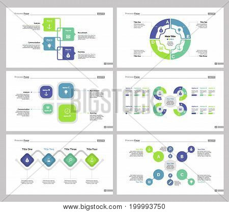 Infographic design set can be used for workflow layout, diagram, annual report, presentation, web design. Business and banking concept with process and flow charts.