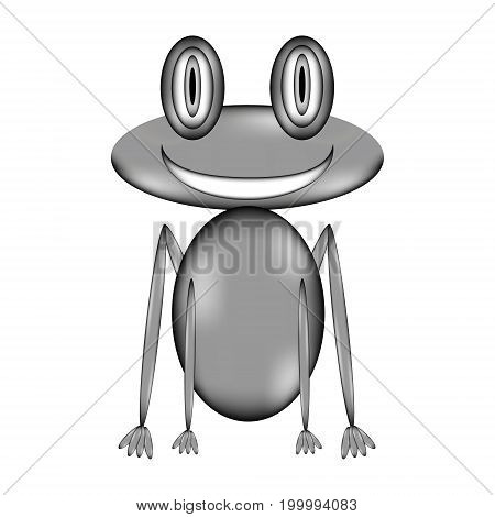 Frog sign icon on white background. Vector illustration.