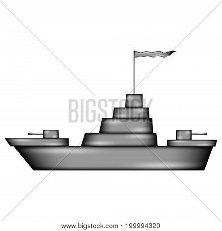 Warship sign icon on white background. Vector illustration.
