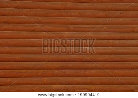 Brown texture of a wooden log wall
