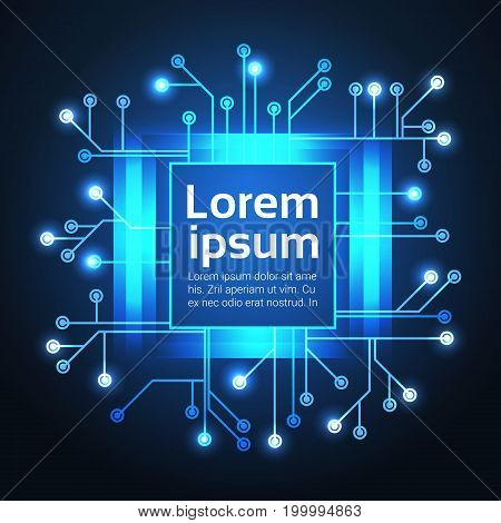 Neon Graphic Banner With Abstract Copy Space Vector Illustration