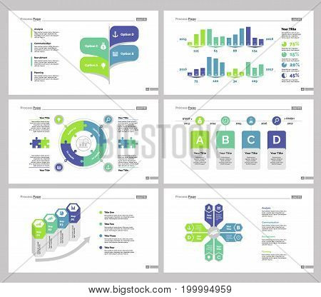 Infographic design set can be used for workflow layout, diagram, annual report, presentation, web design. Business and logistics concept with process and percentage charts.